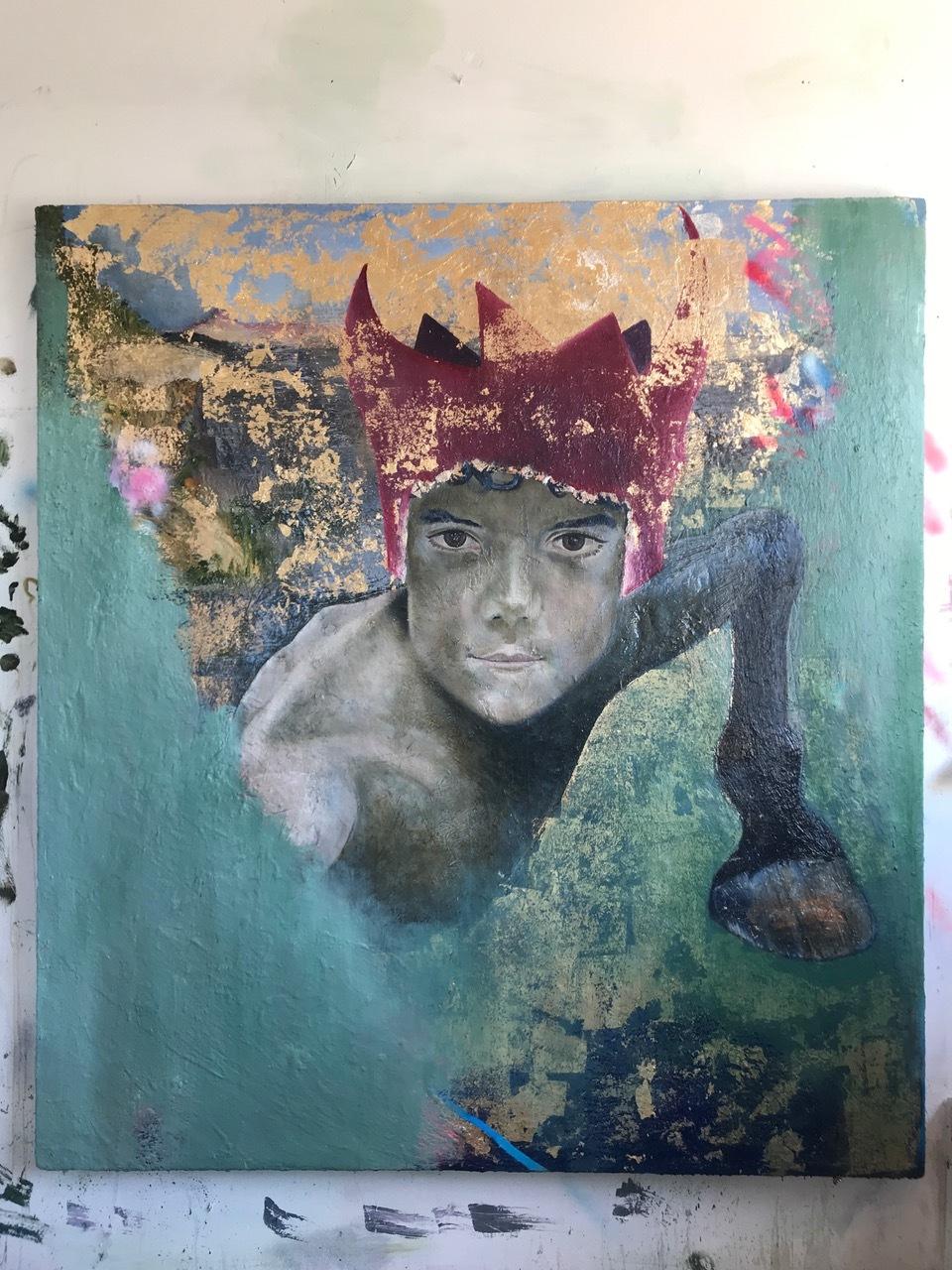 BOY No 3. 2018 Oil on Canvas 180 x 180 cm