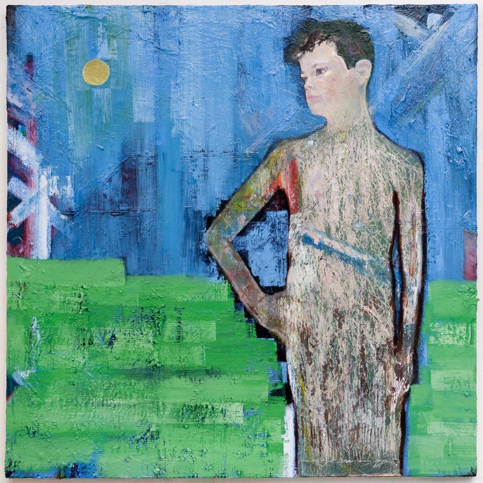 BOY No 2 .2017 Oil on Canvas, 168cm by 168cm