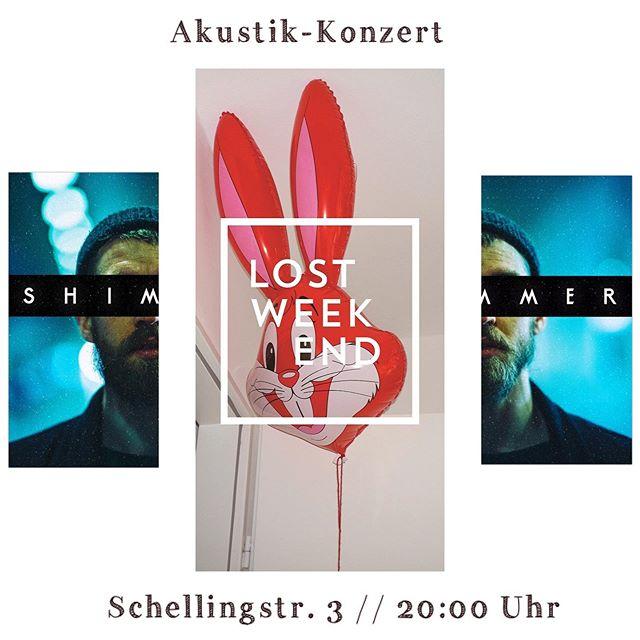 Morgen // @lostweekendmunich // Schellingstr. 3 // Akustik-Livekonzert // 20:00 Uhr  #Live #AkustikRock #Akustik #AlternativeRock #munichlive