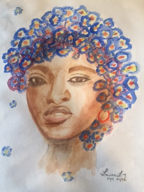 Flower Lady #4 (2016) 16x12