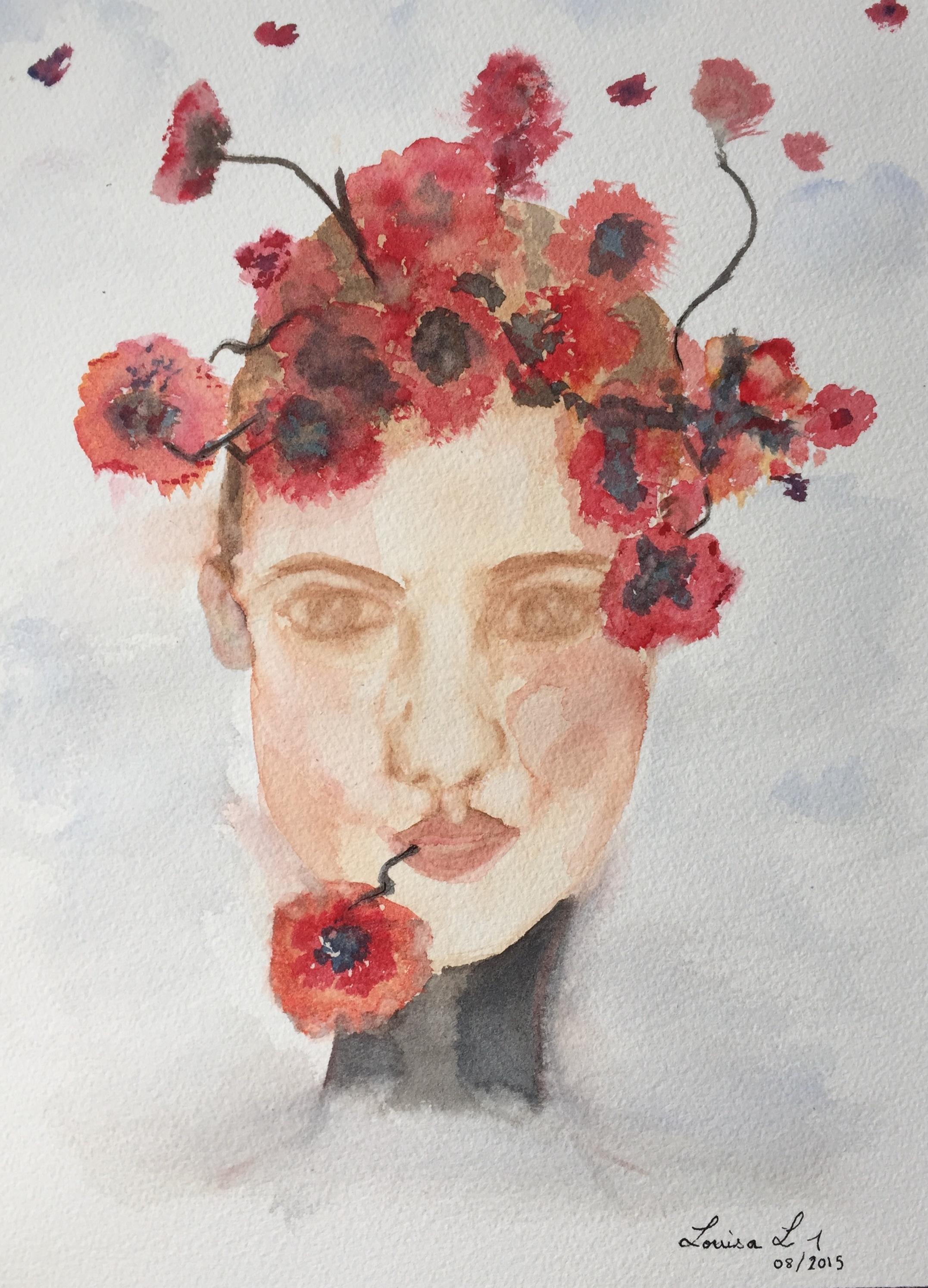 Flower Lady #1 (2015) 16x12