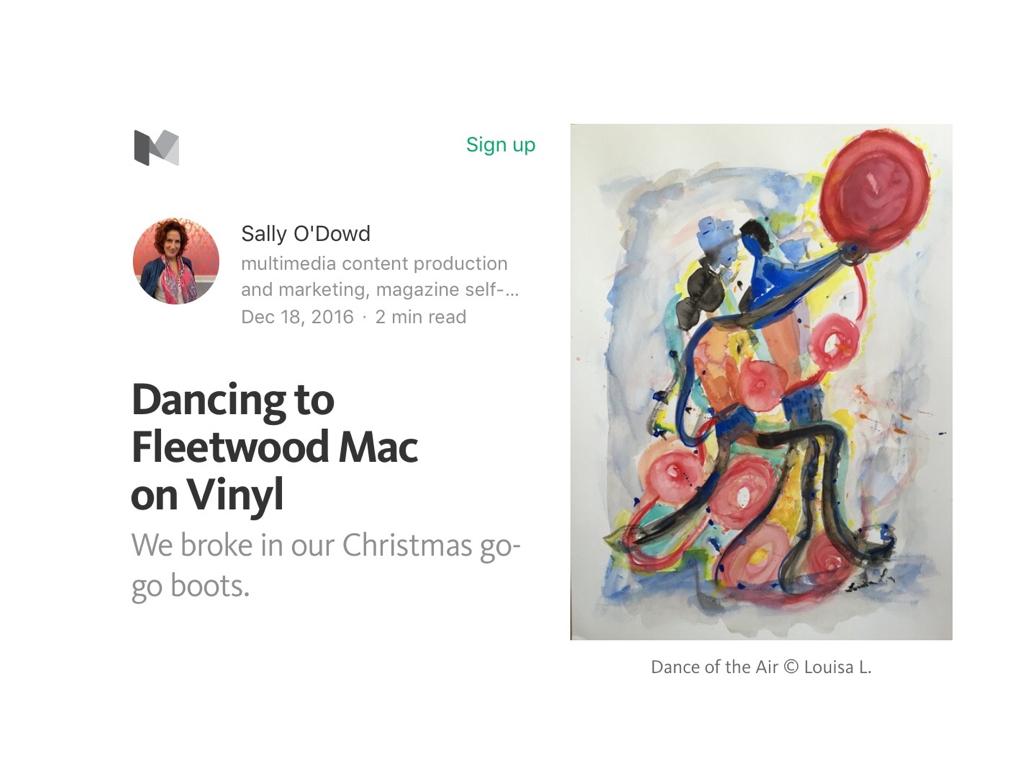 Poem 'Dancing to Fleetwood Mac on Vinyl'