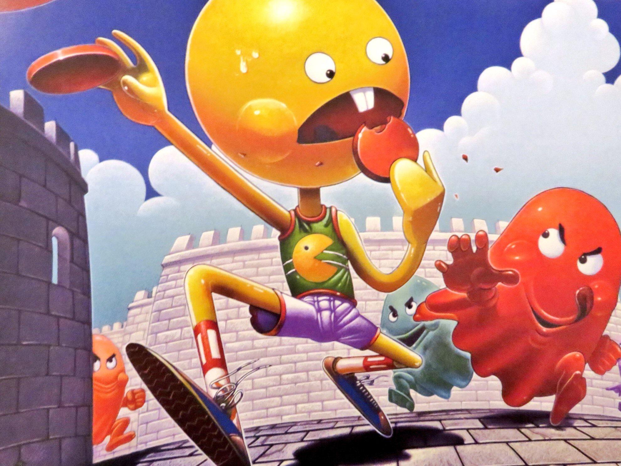 Original box concept for  Pac-Man  by Hiro Kimura. ©  The Art of Atari