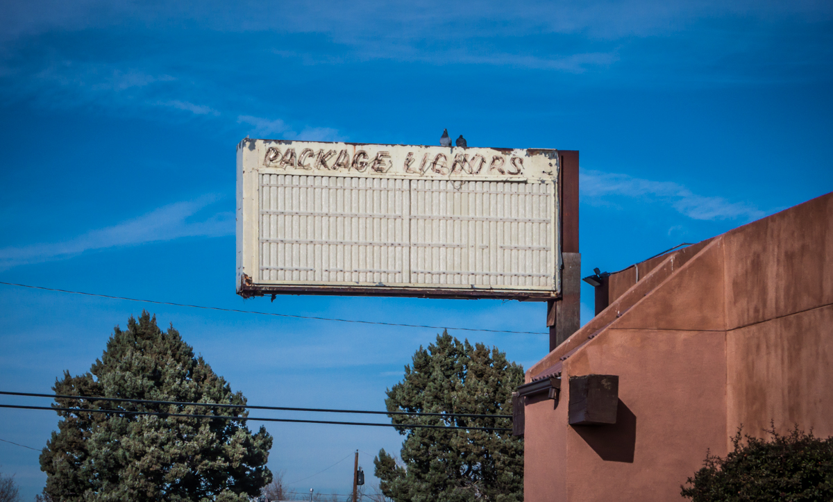 The closing of Package Liquors, this one from Central Avenue in Albuquerque, is a sure sign of hard times.