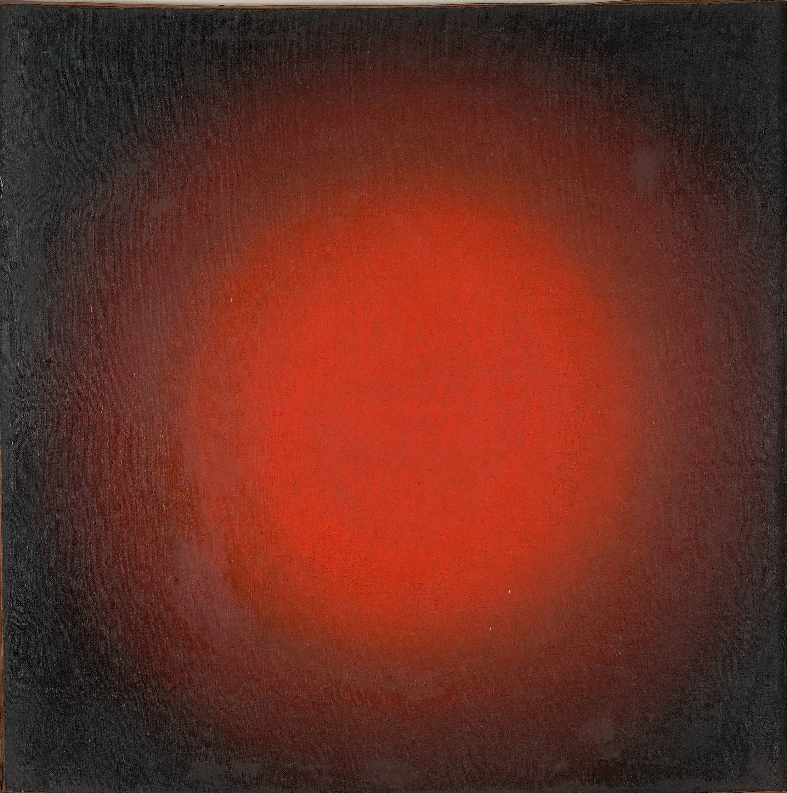 Ivan Kliun (1873 – 1943). RED LIGHT. SPHERICAL COMPOSITION, 1923. Oil on canvas, 68,3 x 67,7 cm. Courtesy: The Greek State Museum of Contemporary Art – Costakis Collection, Thessaloniki