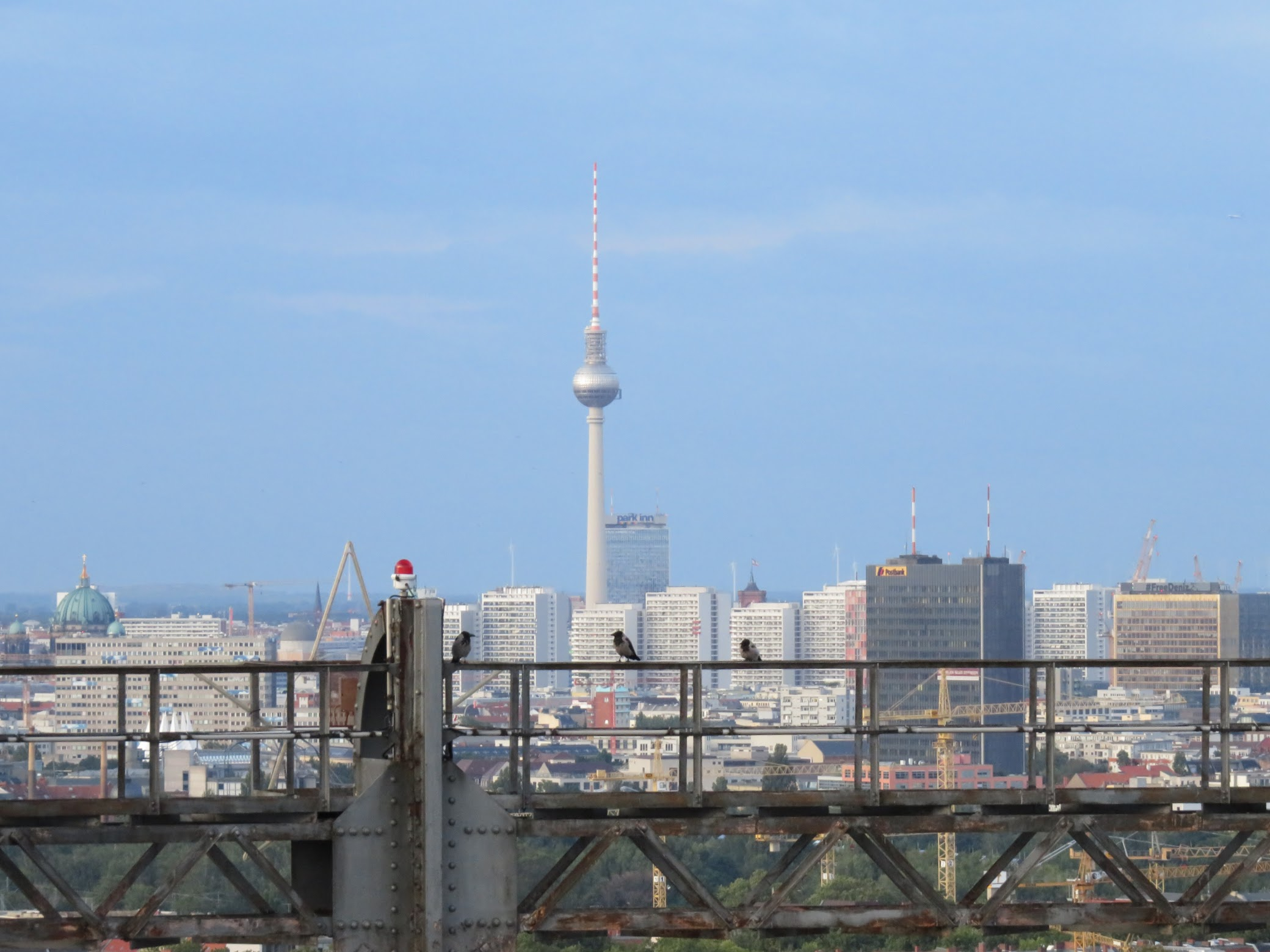 The view to the northeast, with the Berliner Dom and Fernsehturm in the distance.