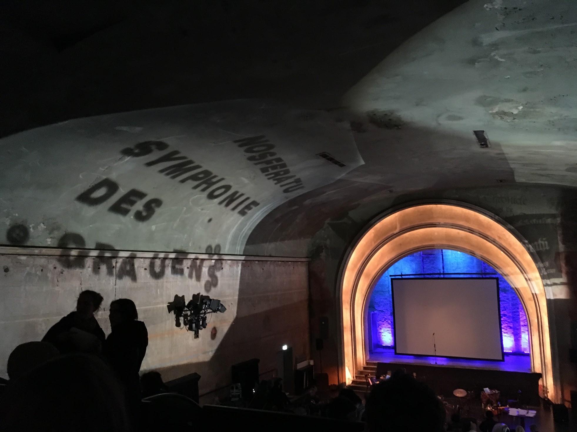 Nosferatu  with live musical accompaniment and projections, Delphi Stummfilmkino, February 2018