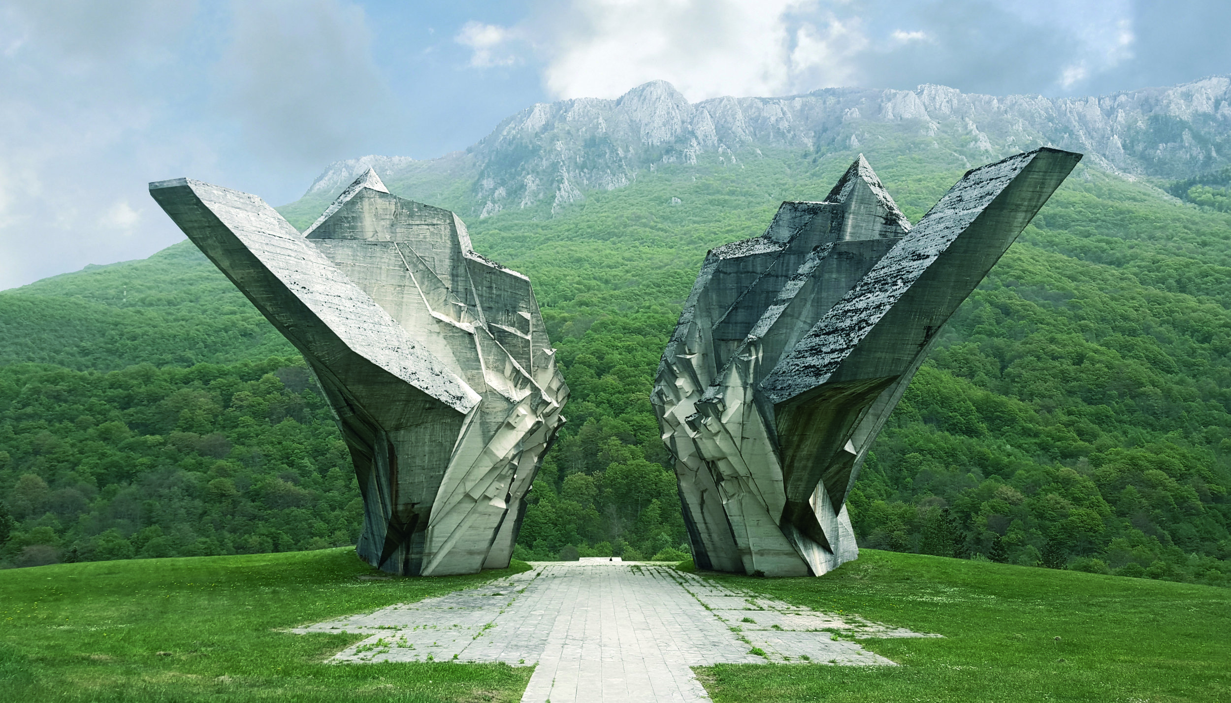 Battle of Sutjeska Memorial Monument Complex in the Valley of Heroes, Tjentište, Republic of Srpska, Bosnia and Herzegovina. Completed 1971. All photos © Donald Niebyl / FUEL Publishing; used with permission.