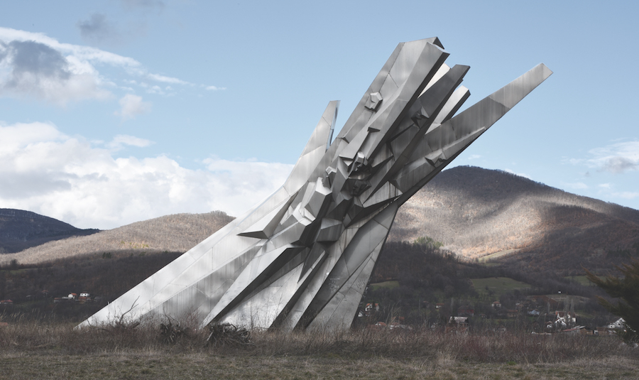'Courage': A Monument to the Fallen Soldiers of the Čačak Partisan Detachment, Ostra, Serbia. Completed 1969.