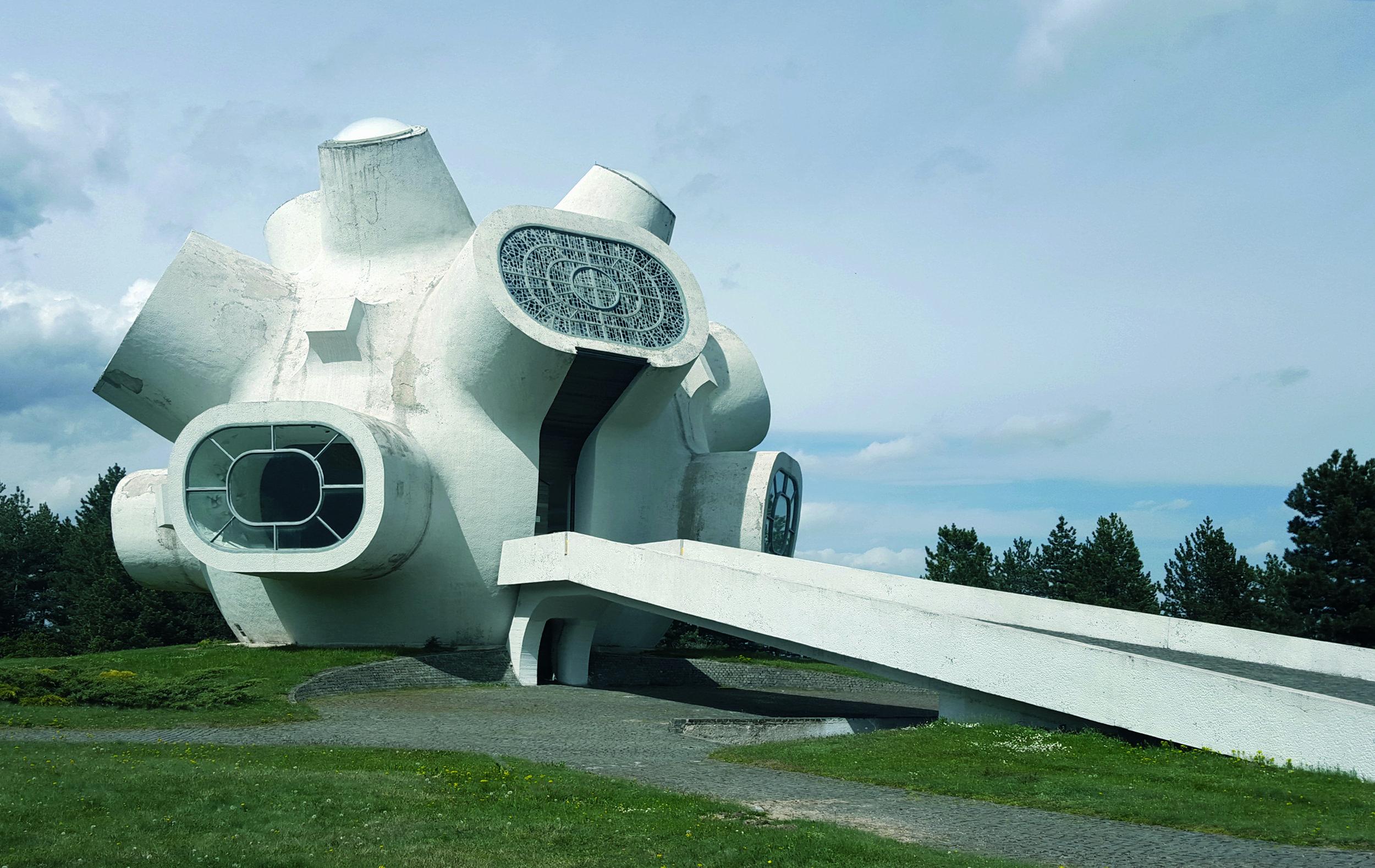 Ilinden Memorial, also known as 'Makedonium', Kruševo, Macedonia. Completed 1974.