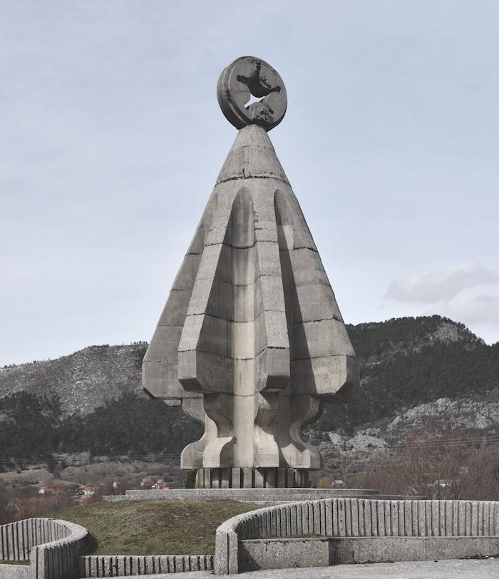 Monument to the Fallen Soldiers on Sutjeska, Župa Nikšićka, Carine, Montenegro. Completed 1984.