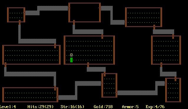 """Rogue, the devilishly difficult, endlessly fascinating, procedurally generated game that gave the world the term """"roguelike"""". Image by Michael Toy, Kenneth C.R.C. Arnold, Jo, licensed via  Creative Commons ."""