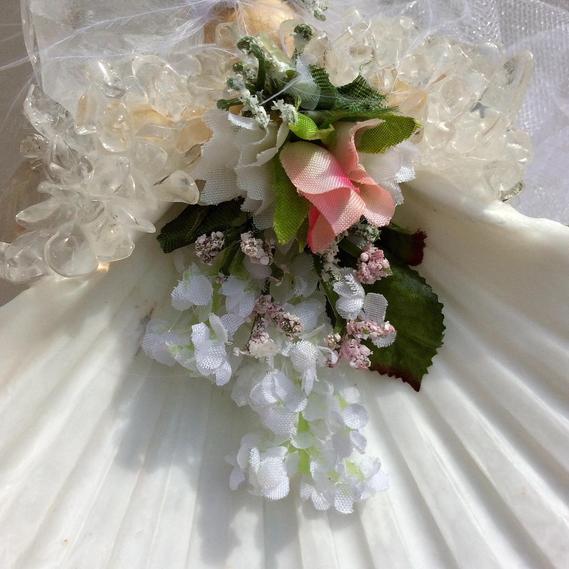 Wedding Bouquet Back of Wedding Angel