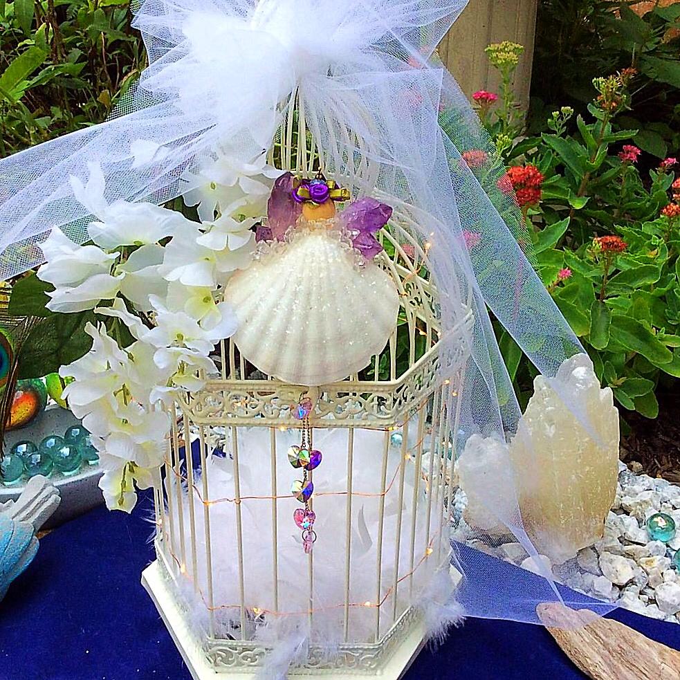 Earth Wish Angels Amethyst Wedding Angel Keepsake for Wedding Cage and Nightlight