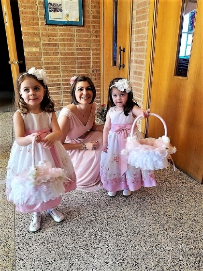 Earth Wish Angels Handcrafted Custom Flower Girl Baskets in Bride's Colors; Hampton Valley Country Club, Richboro, PA