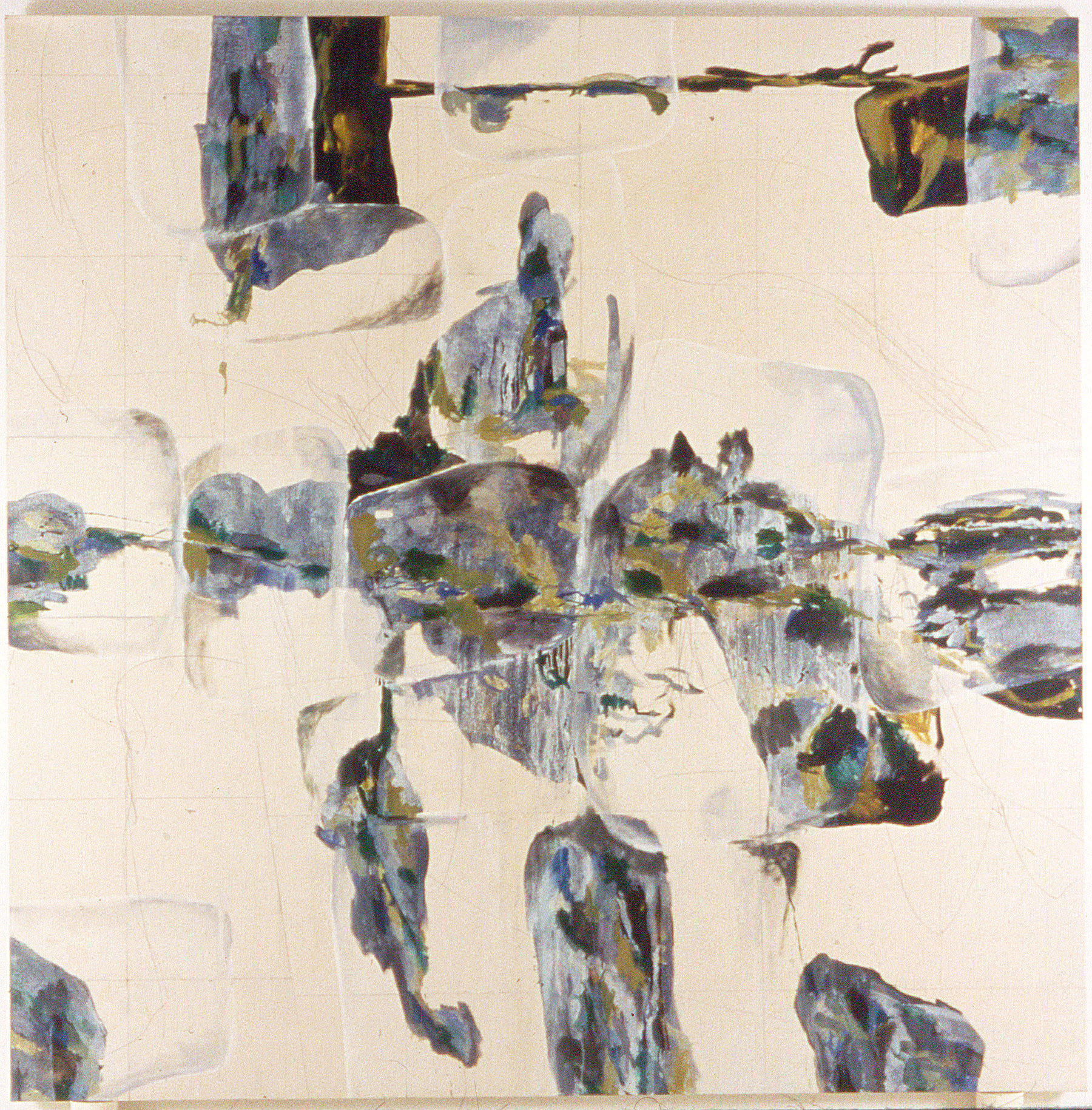 Antigone No. 6 , oil and pencil on canvas, 90 in x 90 in, 1999.