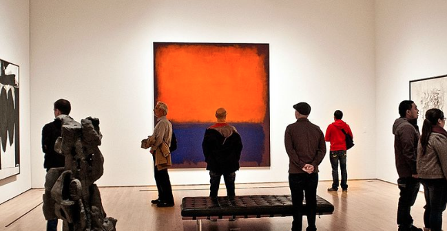 "Mark Rothko's ""Number 14"" on display at the San Francisco Metropolitan Museum of Art (Flickr)"