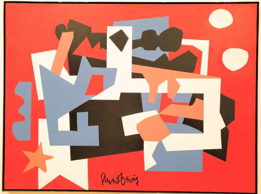Colonial Cubism , 45 in x 60 in,.oil on canvas, 1954, Walker Art Center, Minneapolis.
