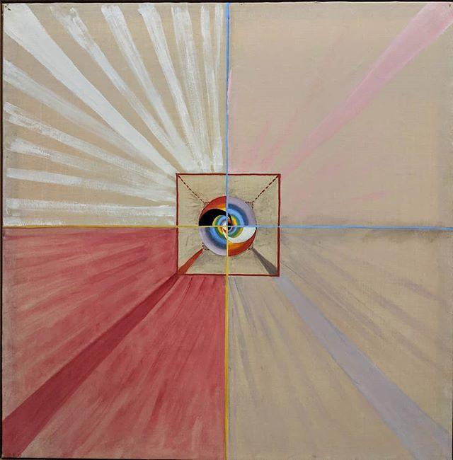 """Hilma af Klint, """"Number 11"""" 1915, about 5 ft. square. #particleandwave #hilmaafklint"""