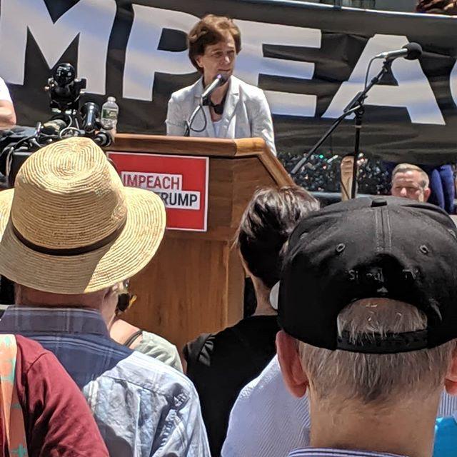 Elizabeth Holtzman at Impeach Trump rally, Foley Square. #impeach 🔥🔥#elizabethholtzman 🔥🔥 #badass  #truthtopower #wehavereceipts #nowsthetime