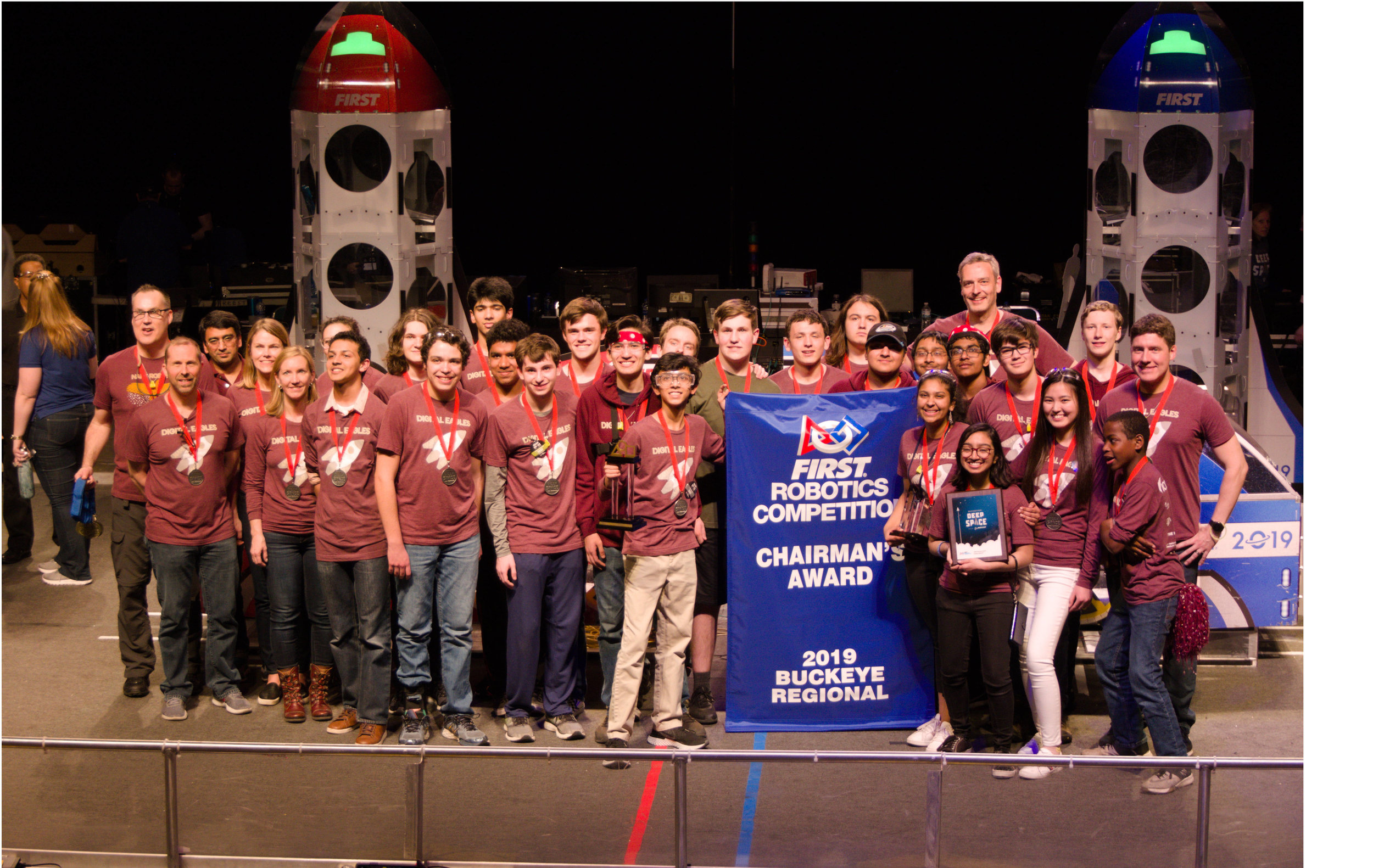 - On March 30, 2019, after 90 qualifying rounds of competition at the Buckeye Regional competition, our team was selected for an alliance with robotics teams from New York and Cleveland. In the play-off rounds, our alliance won its quarterfinal round after a sudden death match, won both of its semi-final matches, and lost in the Championship match.In addition to our team being a Regional Finalist, we qualified for the World Championship by winning the Chairman's Award. This Award is the most prestigious award at FIRST and it honors the team that best represents a model for other teams to emulate and best embodies the mission of FIRST.