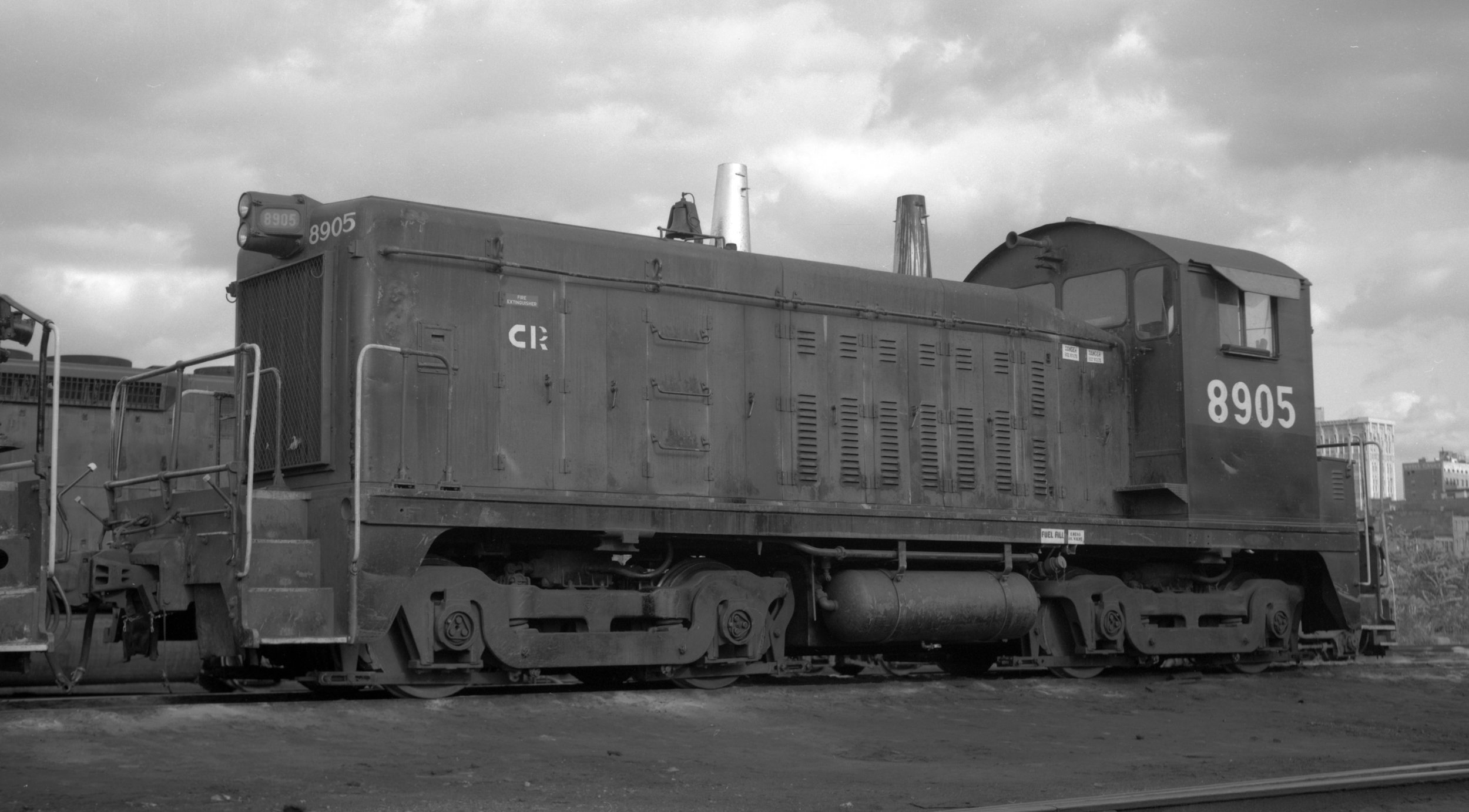 The patch over the P&E logo on the cab is evident in this October 15, 1978 photo of Conrail #8905 in Scranton, PA. (J. W. Hulsman photo, Railroad Museum of Pennsylvania collection)