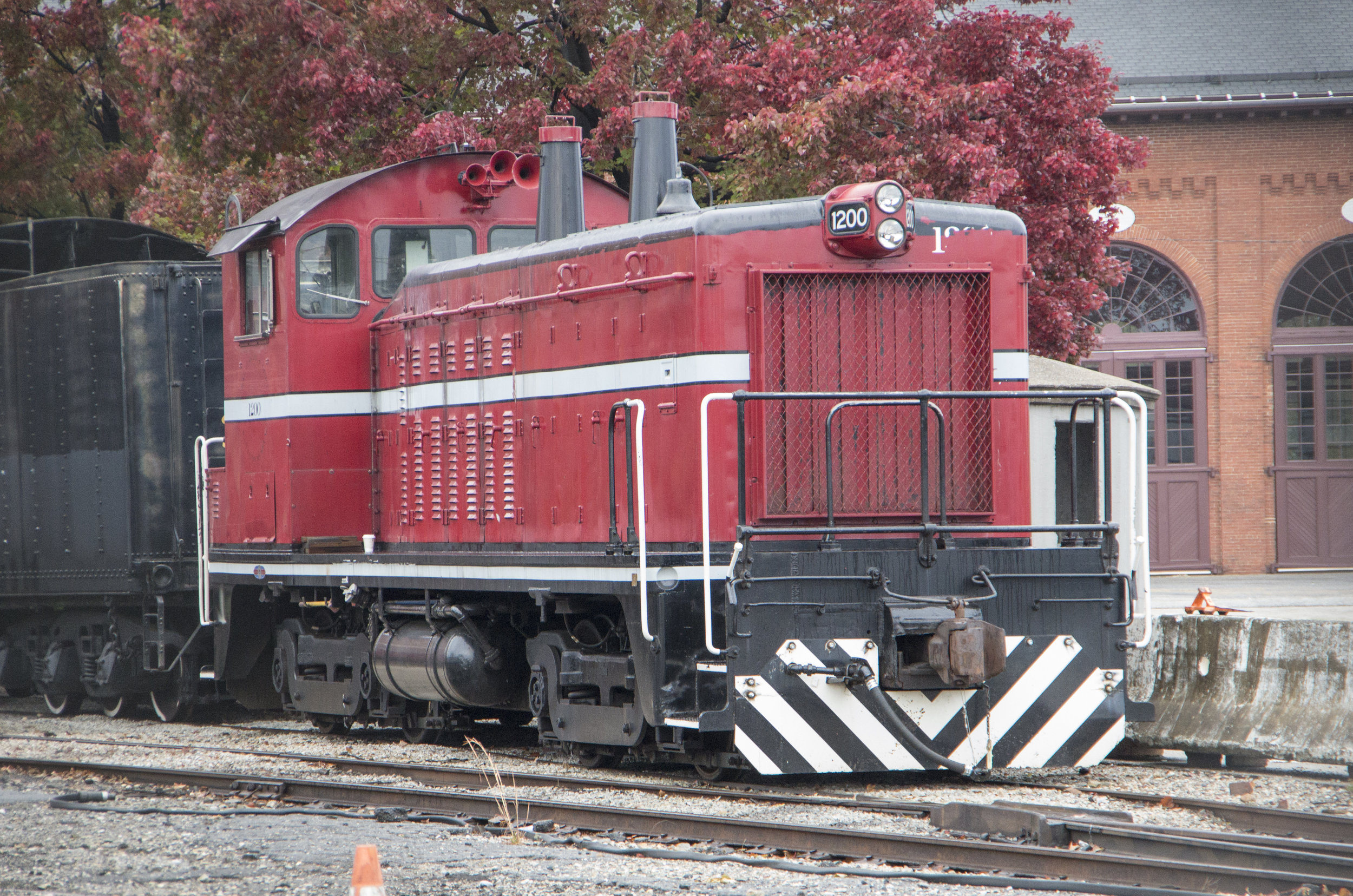 B&O Railroad Museum #1200 is parked behind the museum's back shop on November 5, 2017. (Rudy Garbely photo)