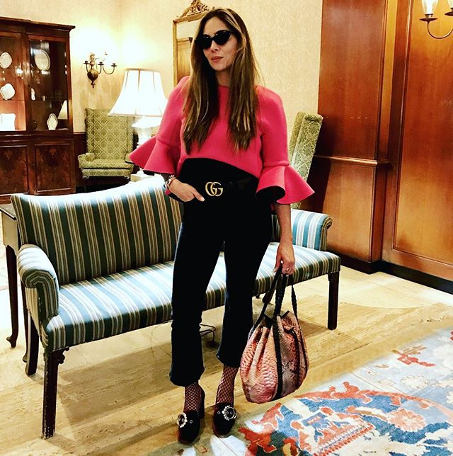 Walking out this Valentine's Day in Bright pink @layana_aguilar #beyourself and wear #layanaaguilar  Double tap for details!  Photo by @andreeva.official #wiwt #ootd #lookbook #styledbyme #annamariasandegren