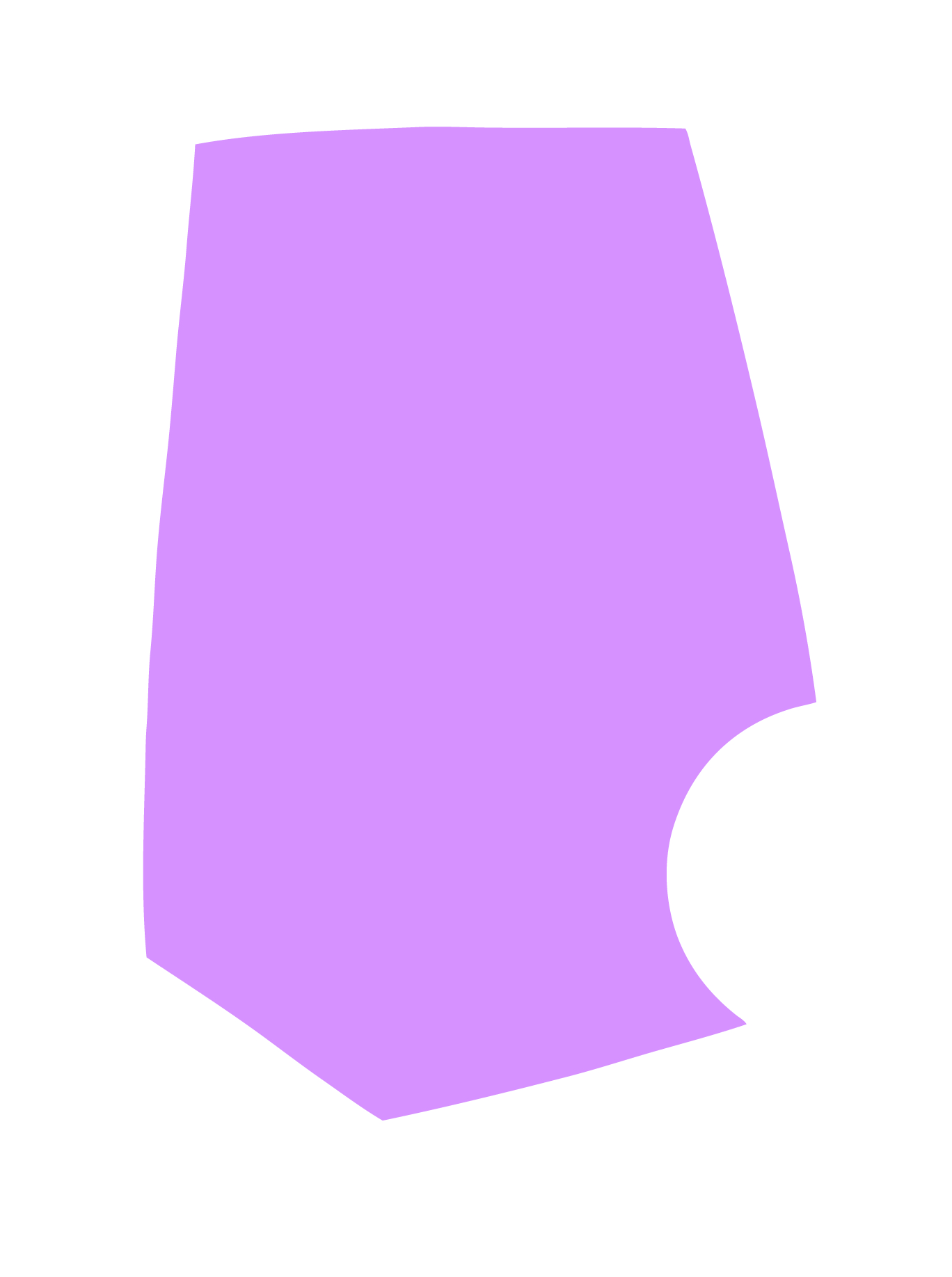Lavender with Cutout
