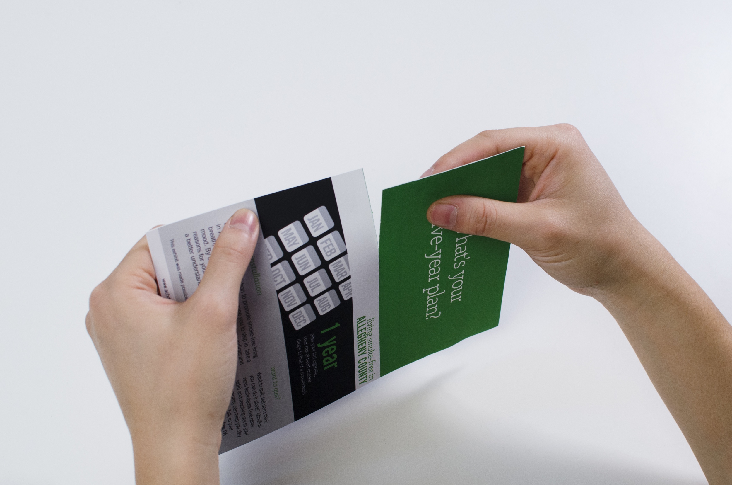 The bottom half of the pamphlet is in the shape of a postcard to add value to the printed piece and to extend a participant's interaction with the art installation.