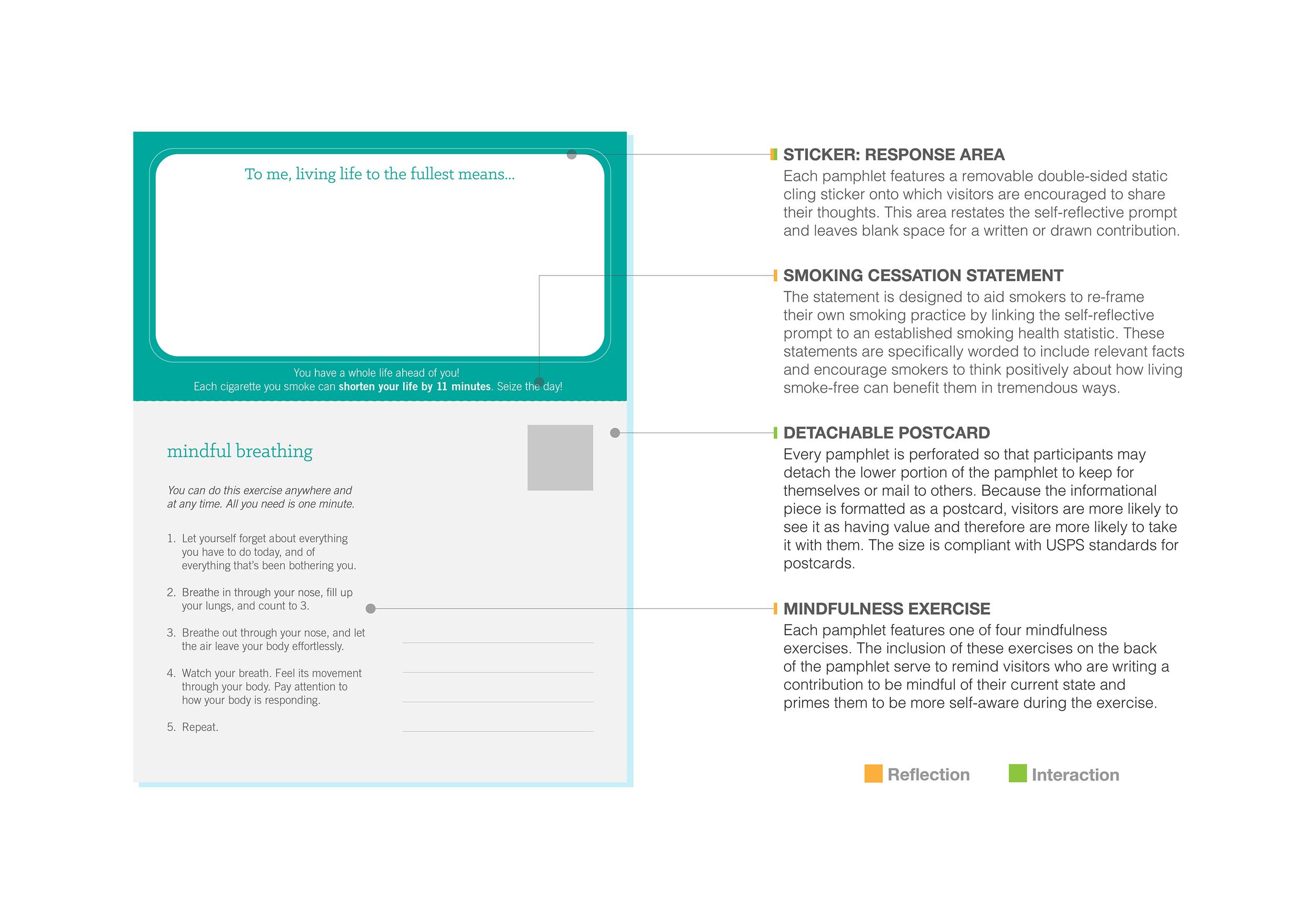 Pamphlet design back.