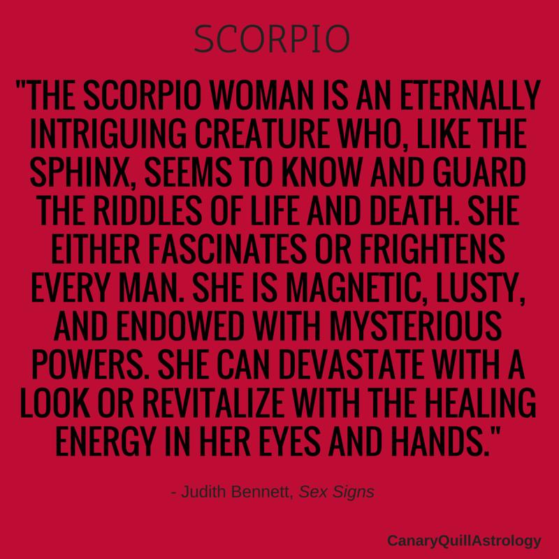A hurt scorpio you woman when The Detailed