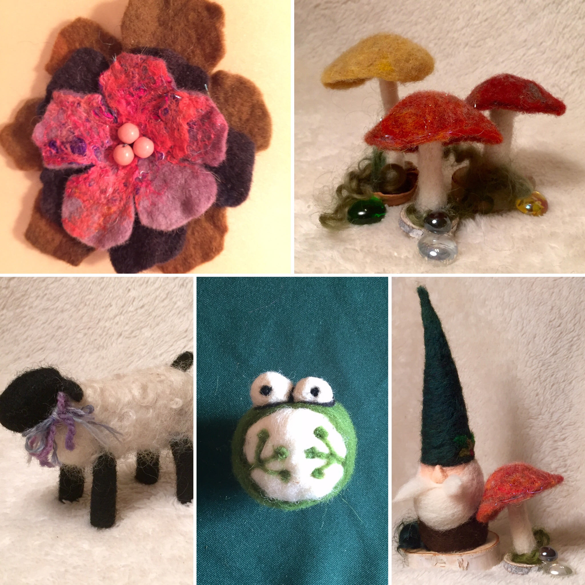 """Choose a make and take workshop with a needle or wet felting project. This is about an hour ( or tailored to your time frame), includes all necessary supplies, and can accommodate up to 35 in a class.  Click here  and scroll down to """"Craft Projects"""" . One project would be selected for the group. We can help suggest or tailor a project to your group! We do have minimum and maximum numbers for participants. $10 / participant, plus travel"""