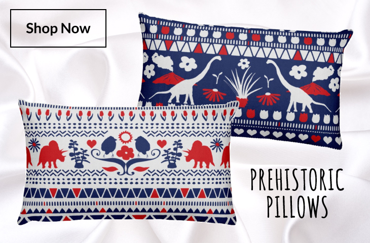 Prehistoric Pillows