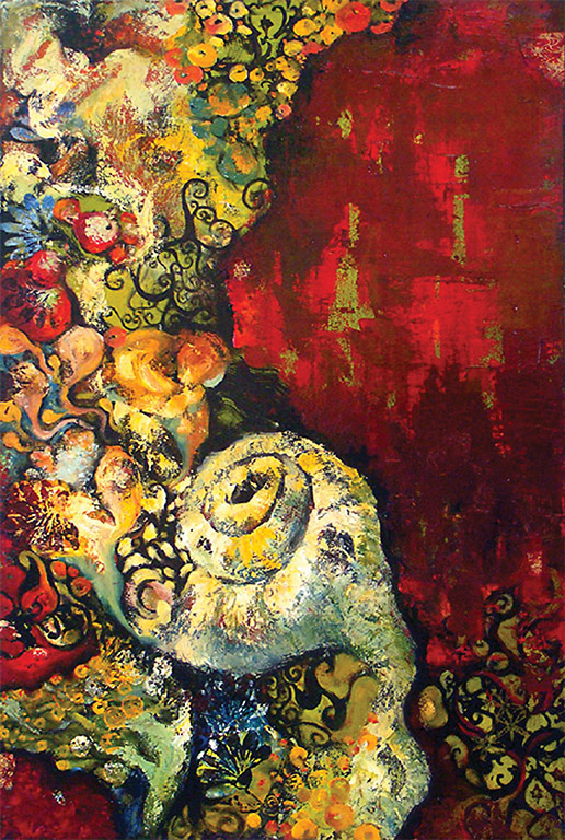 "PASSION SEA, OIL ON CANVAS, 30x40"", 2001."