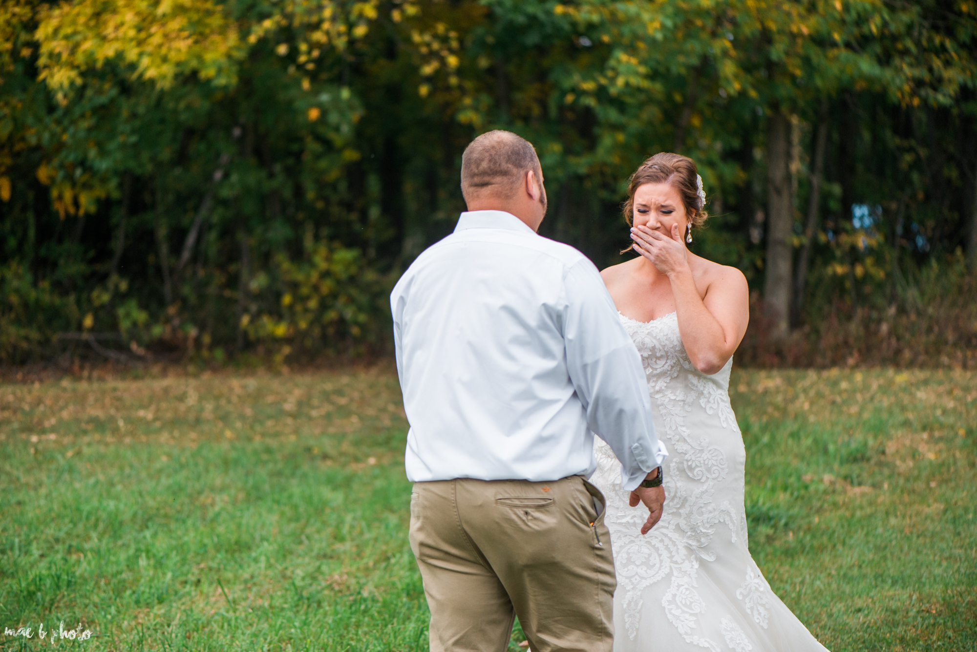 Sarah & Dustin's Intimate Fall Barn Winery Wedding at Hartford Hill Winery in Hartford, Ohio Photographed by Mae B Photo-2.jpg