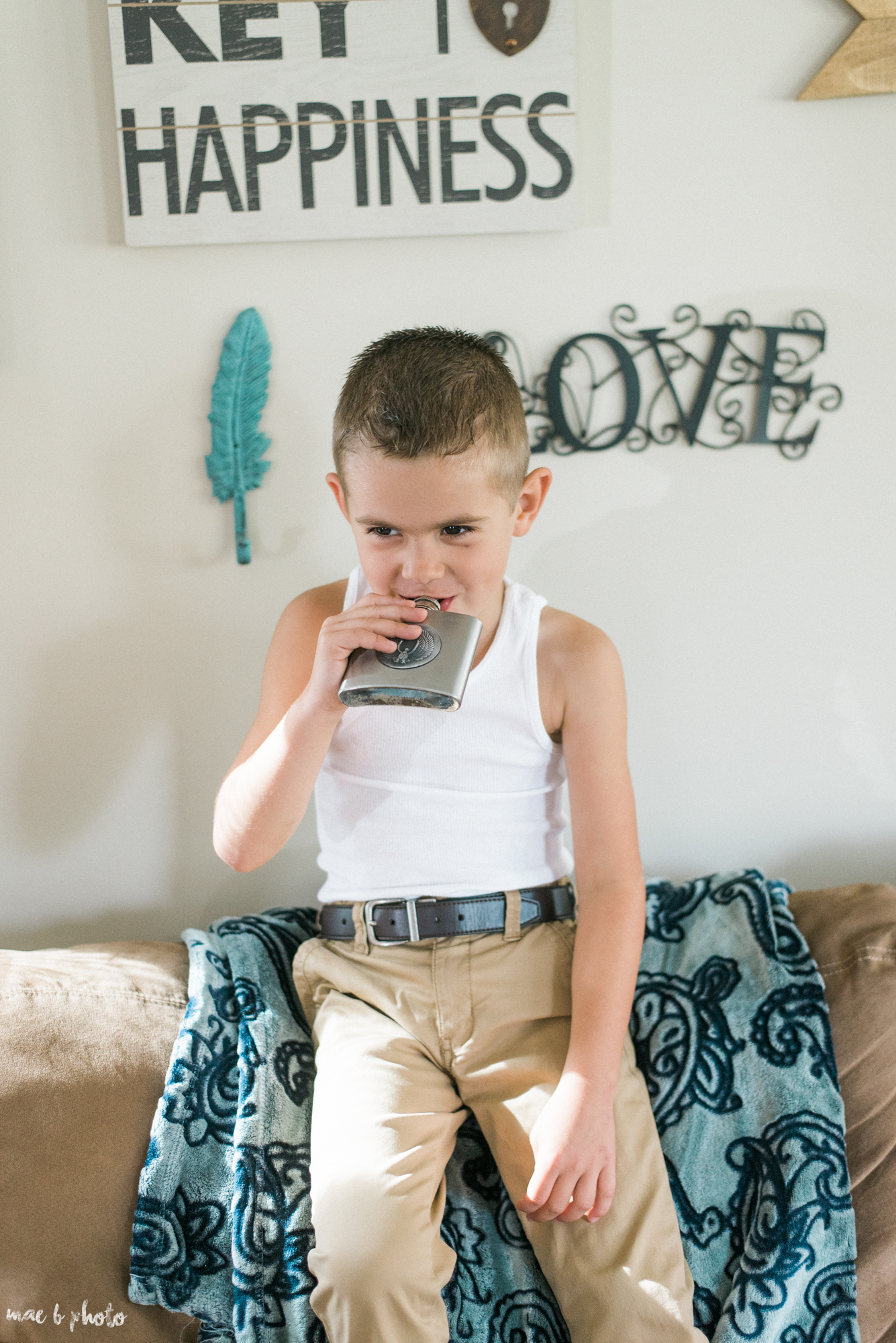 Mason had his own flask of juice :P