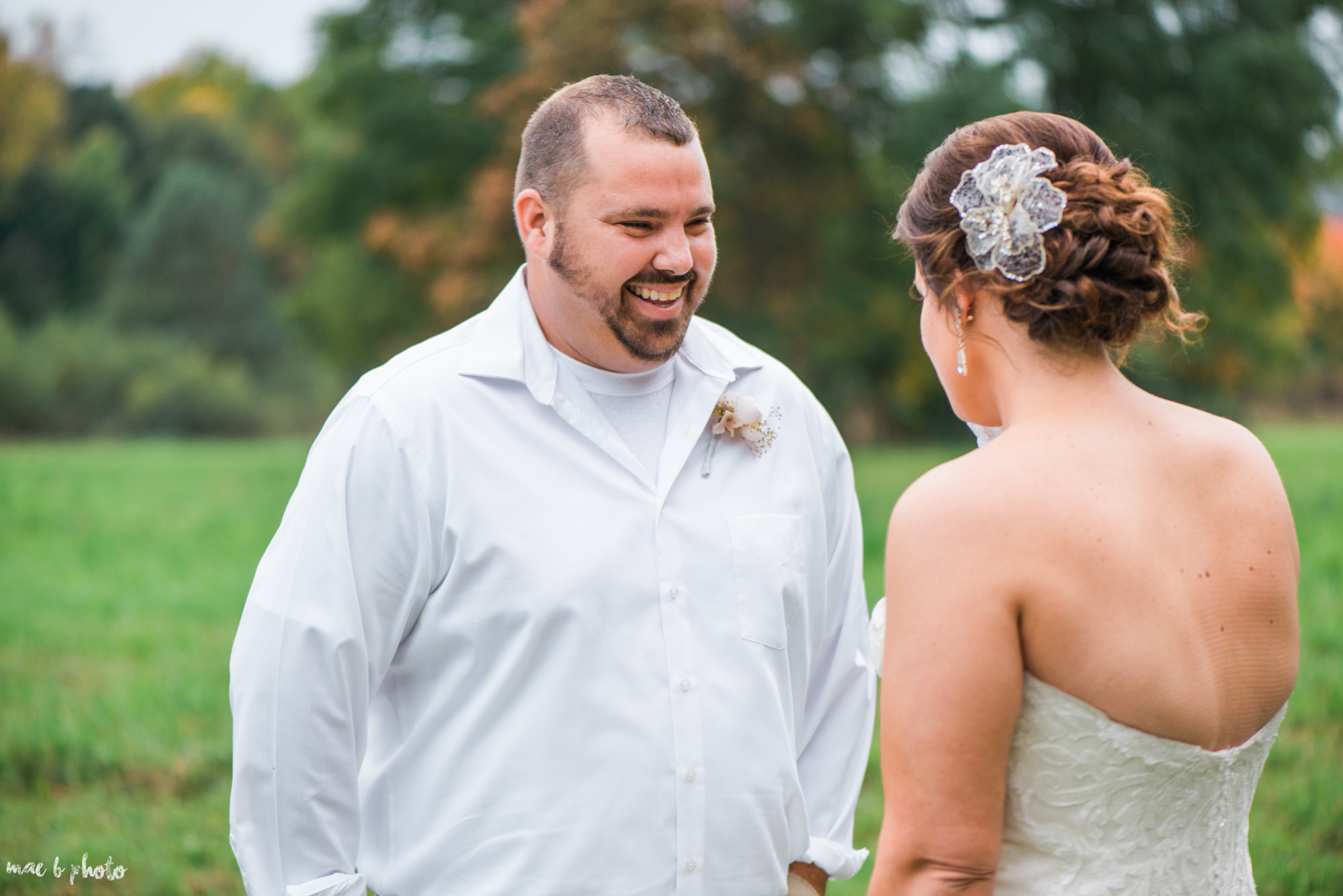 Sarah & Dustin's Rustic Chic Barn Wedding at Hartford Hill Winery in Hartford, Ohio by Mae B Photo-61.jpg