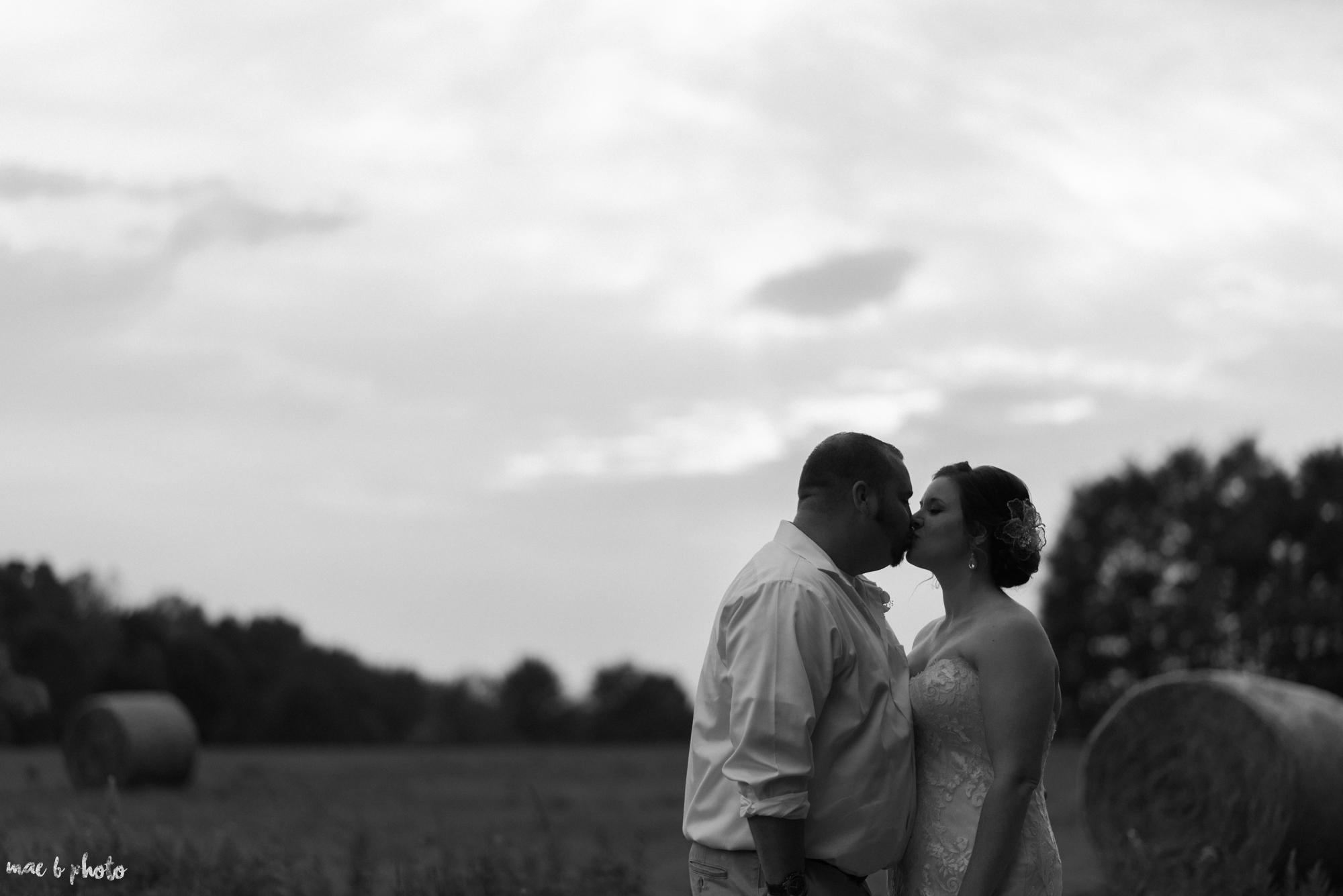 Sarah & Dustin's Rustic Chic Barn Wedding at Hartford Hill Winery in Hartford, Ohio by Mae B Photo-80.jpg