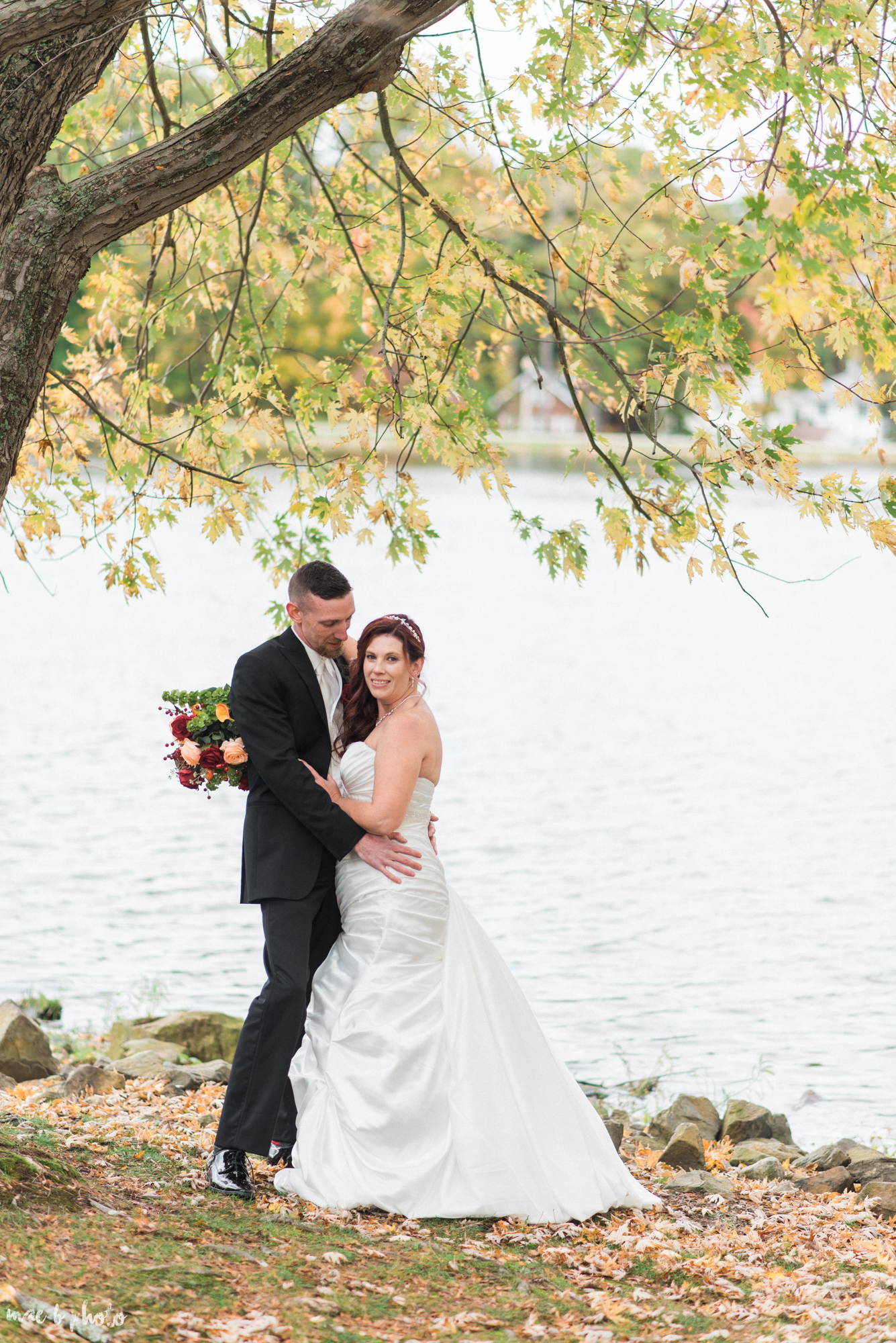 tracey and aaron's personal fall wedding at tiffany's banquet center in brookfield ohio-77.jpg