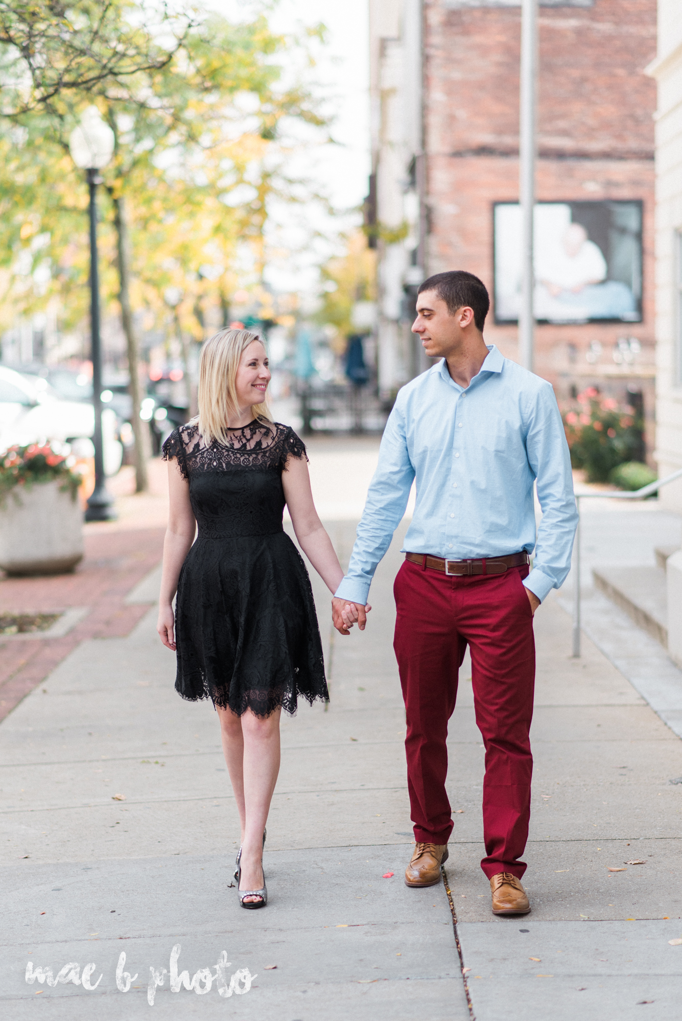 fall engagement session downtown youngstown on federal street photographed by cleveland wedding photographer mae b photo-1.jpg