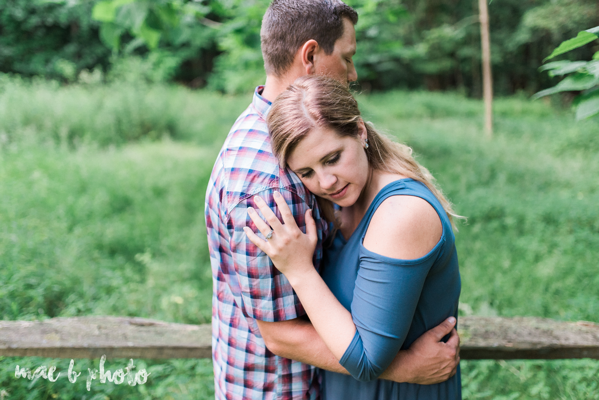 becca and rich's woodsy summer engagement session at ford nature center in mill creek park in youngstown ohio photographed by cleveland wedding photographer mae b photo-42.jpg