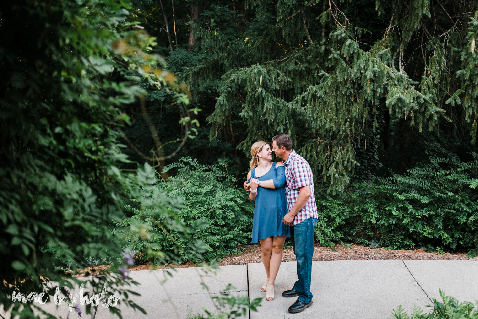 becca and rich's woodsy summer engagement session at ford nature center in mill creek park in youngstown ohio photographed by cleveland wedding photographer mae b photo-32.jpg