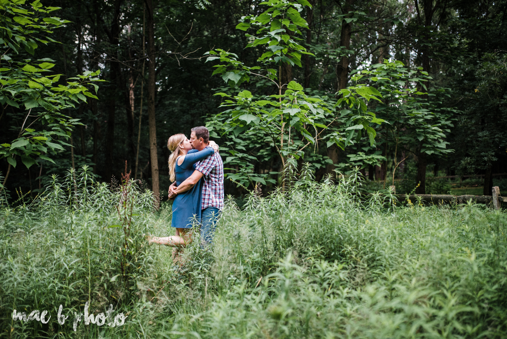 becca and rich's woodsy summer engagement session at ford nature center in mill creek park in youngstown ohio photographed by cleveland wedding photographer mae b photo-48.jpg