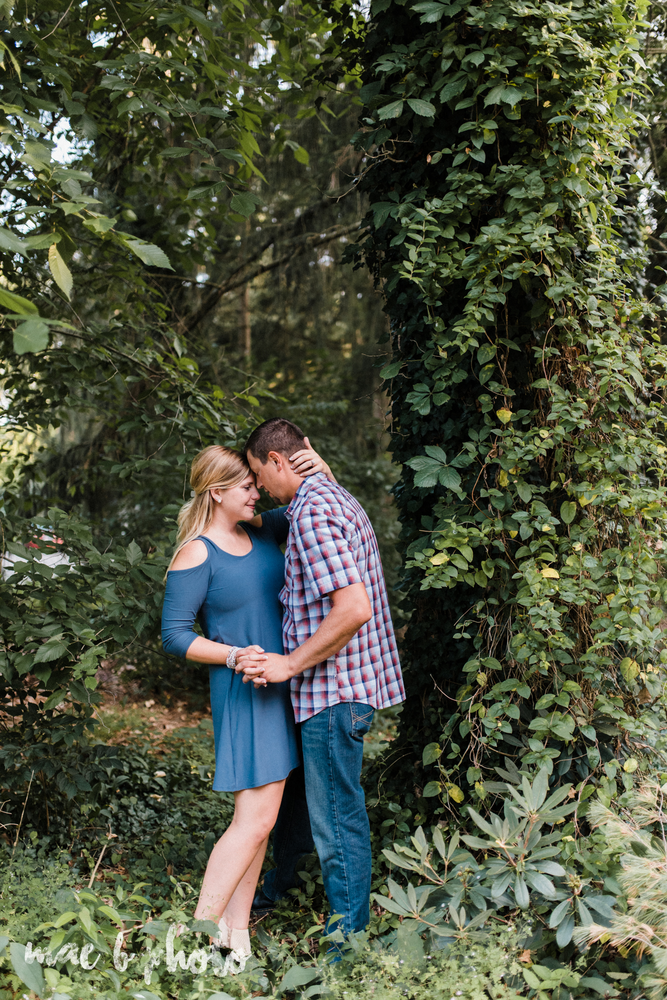 becca and rich's woodsy summer engagement session at ford nature center in mill creek park in youngstown ohio photographed by cleveland wedding photographer mae b photo-22.jpg