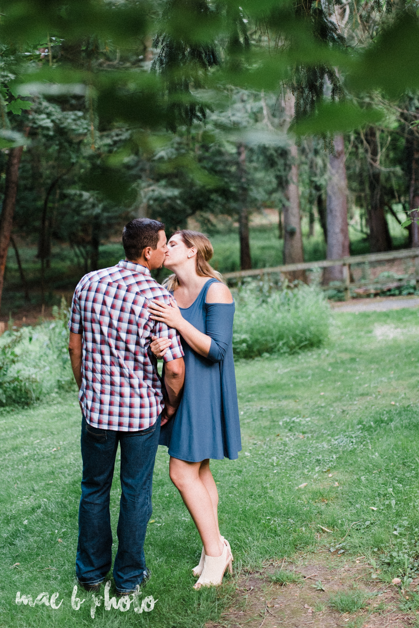 becca and rich's woodsy summer engagement session at ford nature center in mill creek park in youngstown ohio photographed by cleveland wedding photographer mae b photo-36.jpg