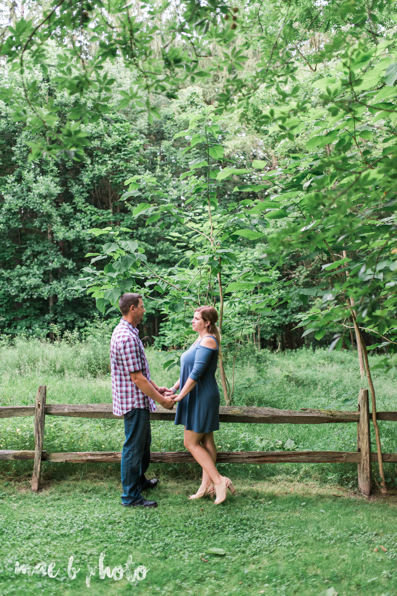 becca and rich's woodsy summer engagement session at ford nature center in mill creek park in youngstown ohio photographed by cleveland wedding photographer mae b photo-39.jpg