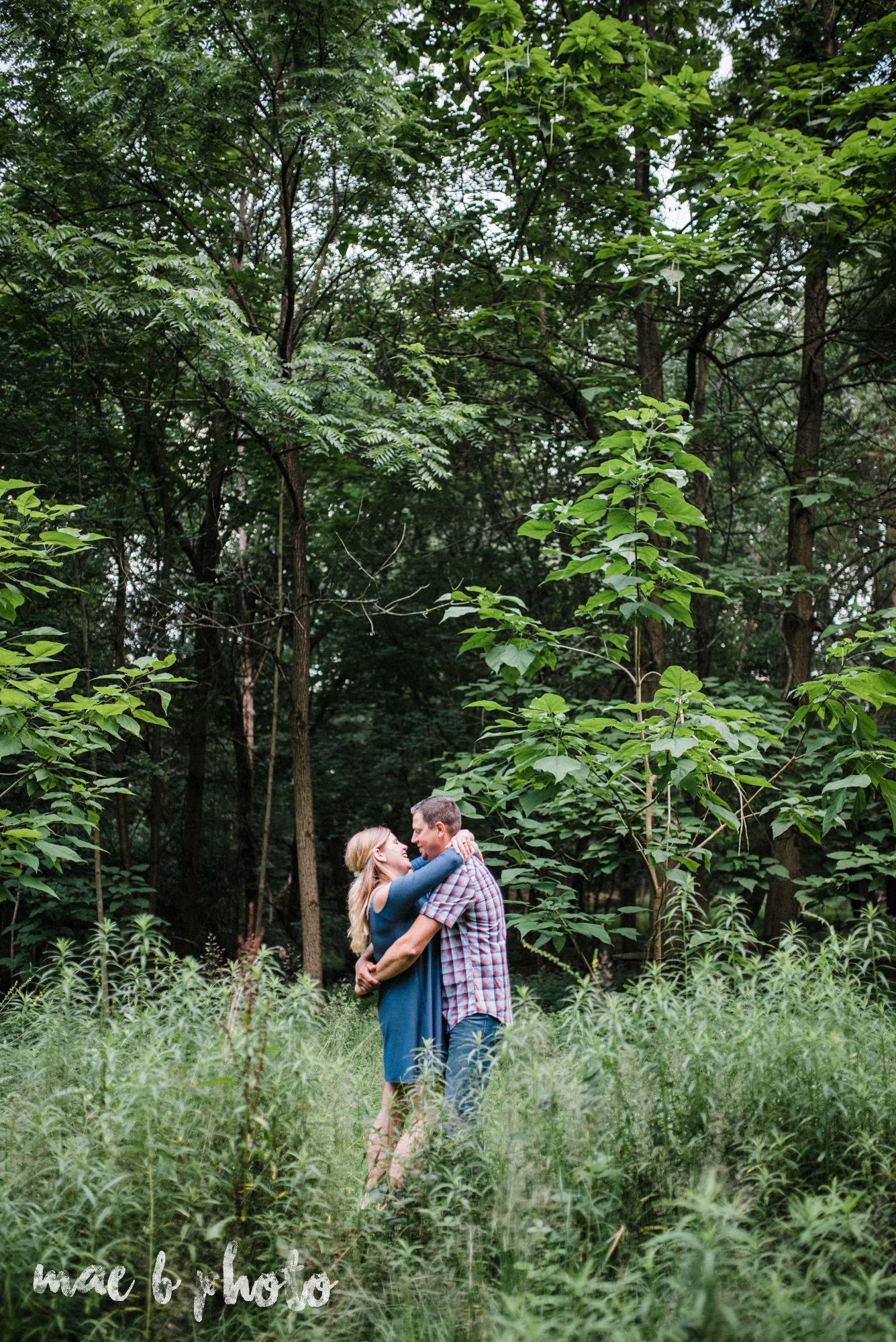 becca and rich's woodsy summer engagement session at ford nature center in mill creek park in youngstown ohio photographed by cleveland wedding photographer mae b photo-46.jpg