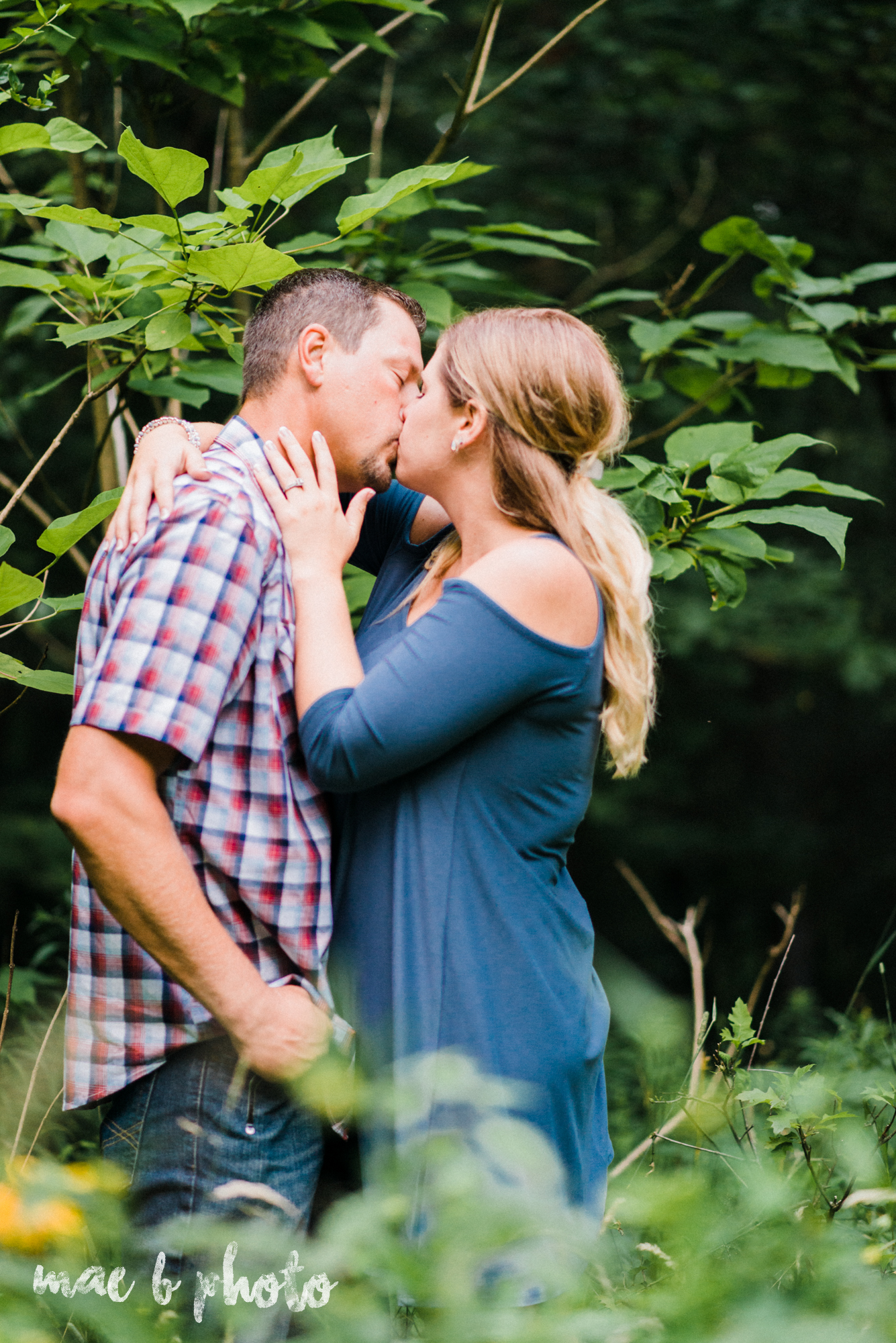becca and rich's woodsy summer engagement session at ford nature center in mill creek park in youngstown ohio photographed by cleveland wedding photographer mae b photo-51.jpg
