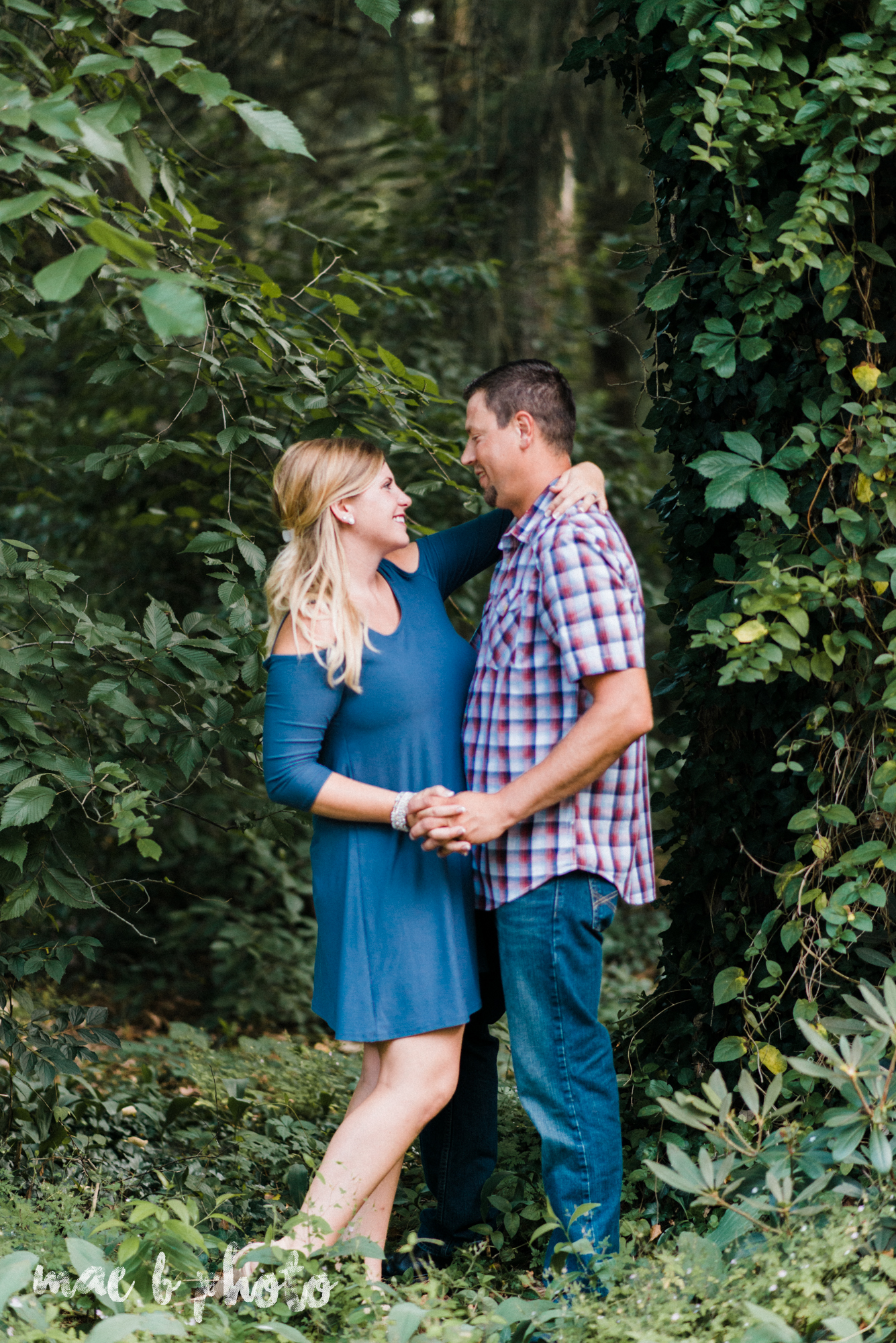 becca and rich's woodsy summer engagement session at ford nature center in mill creek park in youngstown ohio photographed by cleveland wedding photographer mae b photo-18.jpg